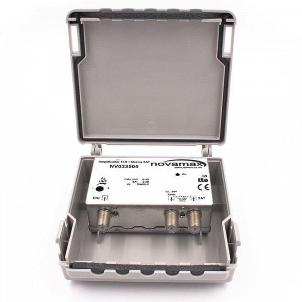 NV033505 - Amplificador de mástil UHF con mezcla de satélite