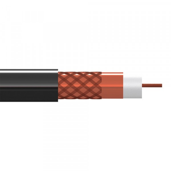 CAB-CATV11 - Cable coaxial CATV 10.4 mm 11dB/800MHz, 250m, Negro