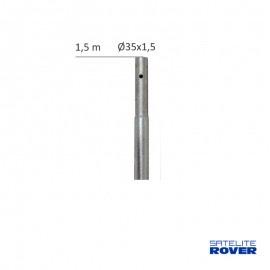 Mástil galvanizado 1500x35x1,5mm, 61045