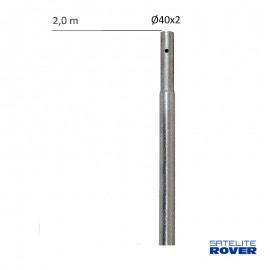 Mástil galvanizado 2500x35x1,5mm, 61046