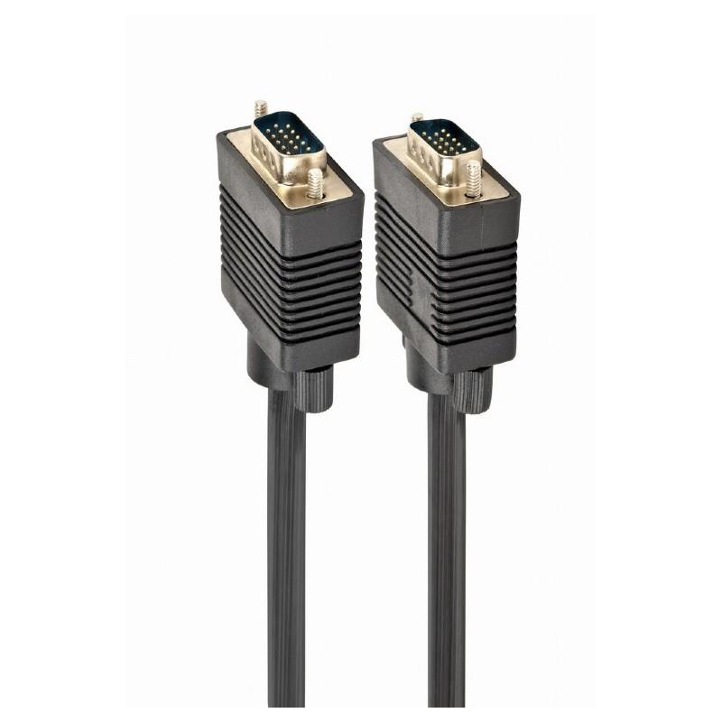 CC-PPVGA-6B - Cable negro para monitor VGA HD15 macho a HD15 macho, 1,8m
