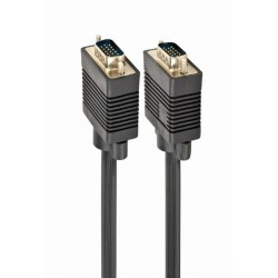 CC-PPVGA-5M-B - Cable para monitor VGA HD15 macho a HD15 macho, 5m