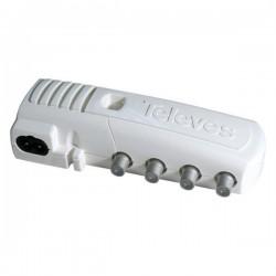 "Televés 5530 - Amplificador Interior ""F"" 3 salidas (2+TV): VHF/UHF/FI + C"