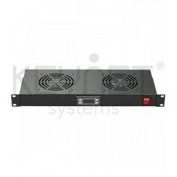 Keynet FR-FAN-R02T - Ventilador para rack de 19'' 1U con termostato.