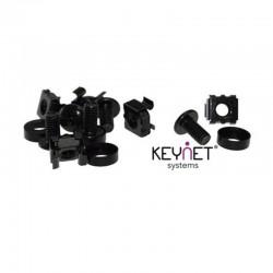 Keynet FR-SN-P50 - Juego de Tornillos, Arandelas y Roscas para Rack