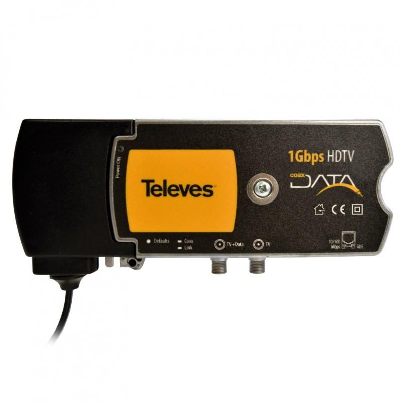 Televés 769203 - Modem CoaxData - Conversor de medios Ethernet - Coaxial.