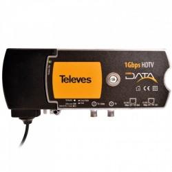 Televés 769201 - Modem CoaxData - Conversor de medios Ethernet - Coaxial y PLC.