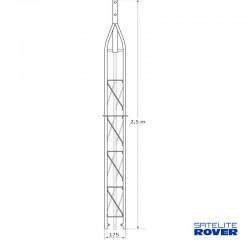 Satélite Rover 63040 - Tramo superior de 2.50 m para torreta triangular