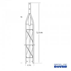 Satélite Rover 63044 - Tramo superior de 1.50 m para torreta triangular